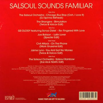 Salsoul Sounds Familiar vinyl 2 record red cover side B