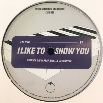 "Patrick Gibin cloud nine i like tyo show you vinyl record cover side B, 12"" EP"