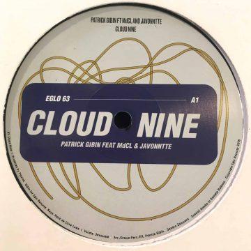 "Patrick Gibin cloud nine vinyl record cover side A, 12"" EP"