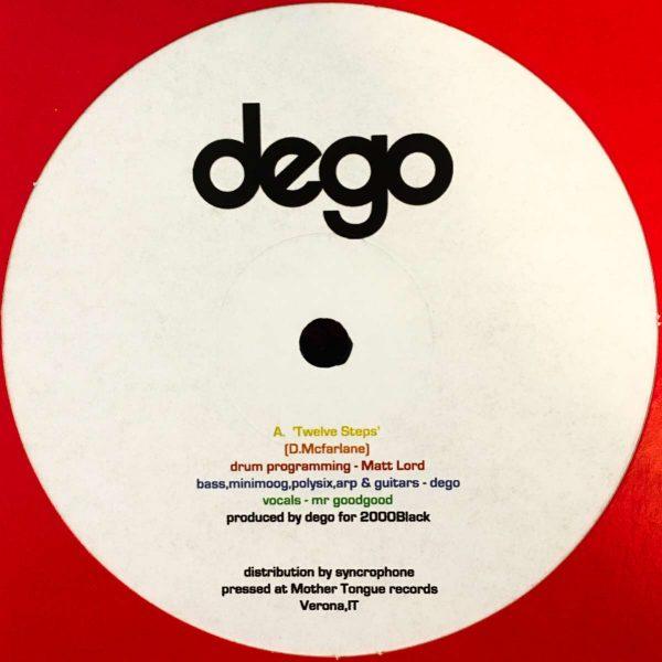 Dego twelve steps vinyl record white cover side A