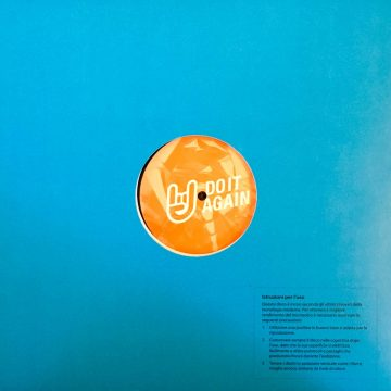 Twice and Volcov Do it Again vinyl record blue cover side B