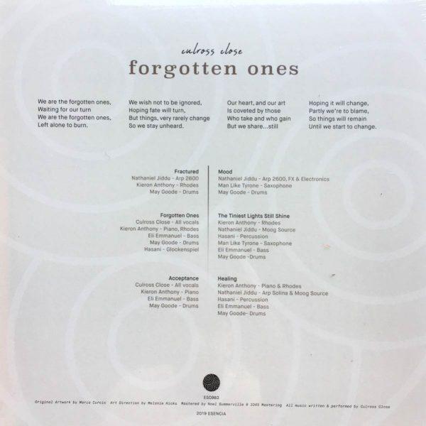 side b of the culross close vinyl record forgotten ones