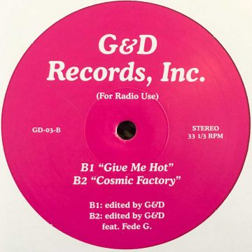 G&D edit 3 vinyl record pink cover side B