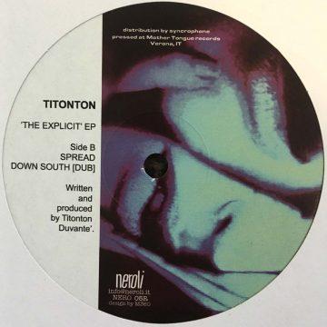 Titonton Duvanté the explicit ep vinyl record cover side B