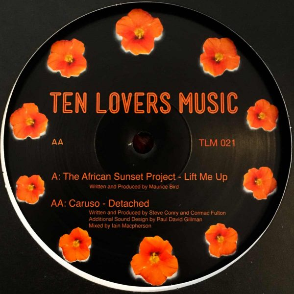 ten lovers music the african sunset project and caruso vinyl record cover side A