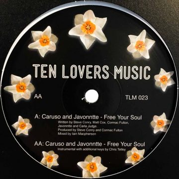 """caruso and javonntte free your soul vinyl side B 12"""" EP house and electronic music vinyl"""