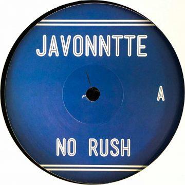 Javonntte no rush album vinyl record white cover side B house and electronic vinyl