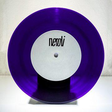 """Side A - Marcello Napoletano, Volcov and Deenamic in Neroxxx 7"""" purple limited edition vinyl record from Neroli label"""