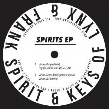 Frank Spirit ft. Keys of Lynx in Spirits EP vinyl record white side A - tracks: virtue (remixes)
