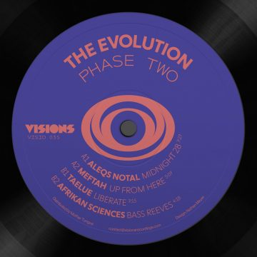 purple side a of the evolutions phase 2 vinyl record by aleqs notal with midnight 28 and up from here tracks