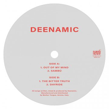 Debut EP vinyl record for the talented DEENAMIC, grey side A with out of my mind and sambu tracks