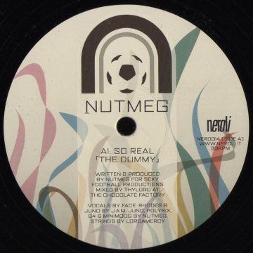 """Nutmeg So Real (The Dummy) vinyl record cover Side A 12"""""""