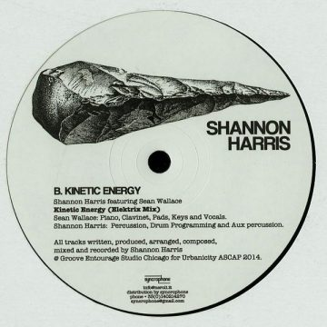"Shannon Harris vinyl record Kinetic Energy white cover Side B, 12"""