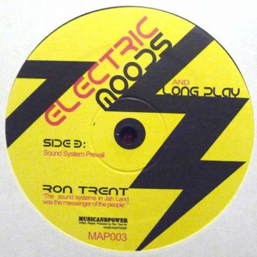 side b of the ron trent vinyl album cover electric moods and long play