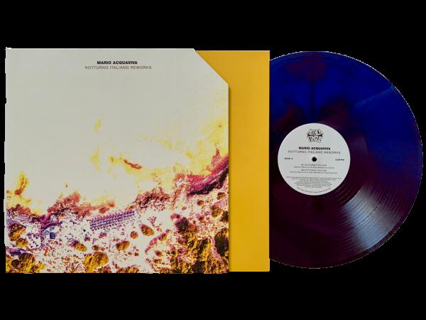 Limited purple-blue vinyl marbled copies of mario acquaviva's notturno italiano