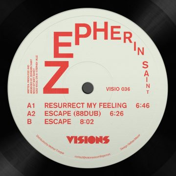 """white and red Side A of the Resurrection 12"""" vinyl record by Zepherin Saint"""