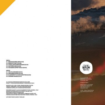 """side b with the tracklist of the 12"""" version of dreamweavers vinyl record by Mark de Clive-Lowe"""