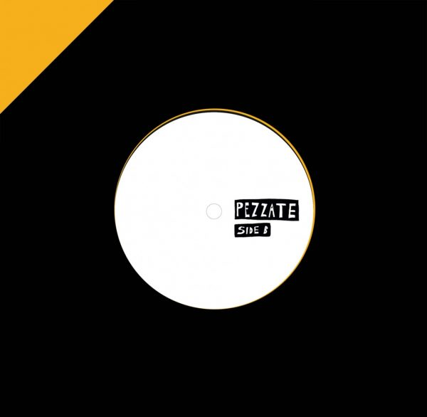 """twice and volcov's pezzate 002 7"""" vinyl record white cover side a, boogie, funk and disco music vinyl"""