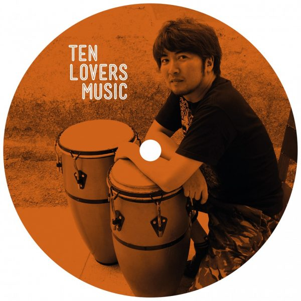 Orange side A of the Clandestina EP vinyl record with Takashi Nakazato from ten lovers music