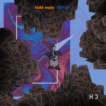 abstract coloured front cover of the Kidd Mojo's Dionysia EP vinyl album
