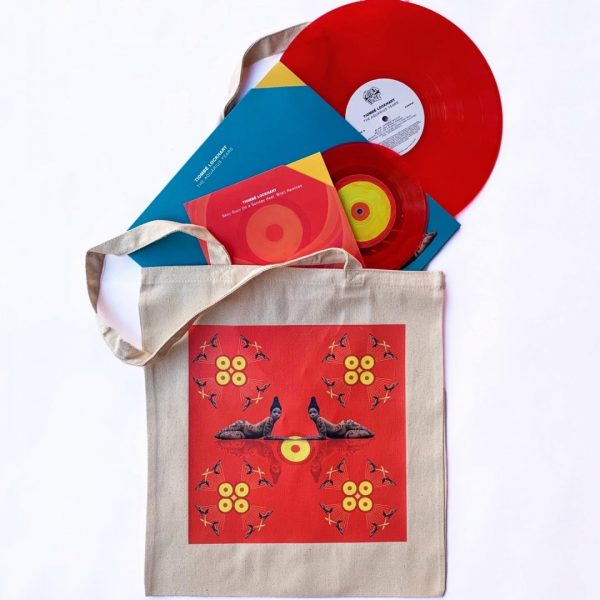 """Tiombé Lockhart Bundle includes a tote bag and 2 limited edition 7"""" and 12"""" vinyl"""
