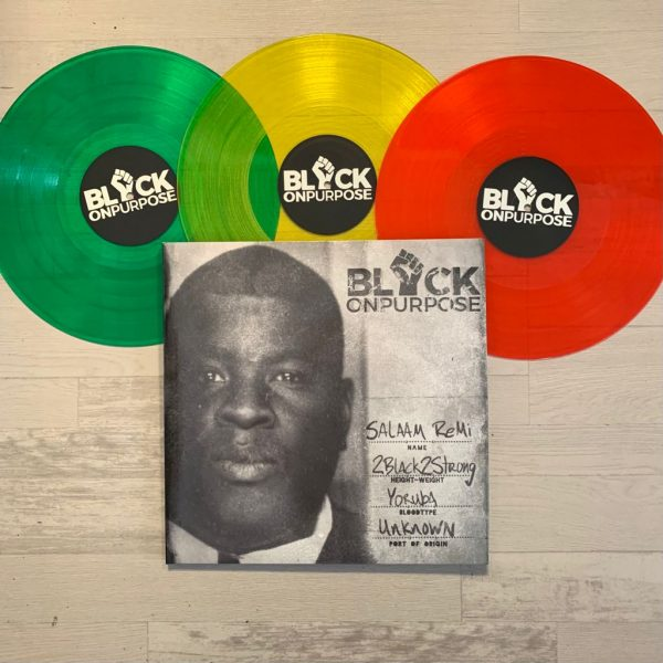 """salaam remi black on purpose 3x12"""" trifold colored vinyl louder than life"""