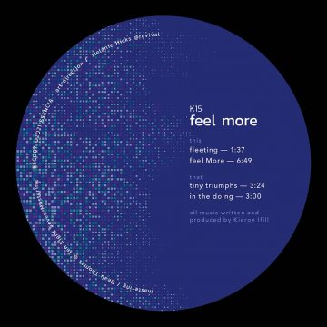 """side A of K15's 12"""" vinyl record Feel More from esencia album"""