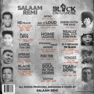 black on purpose lp vinyl record back cover side b with the complete tracklist