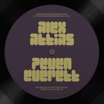 """side A of the Alex Attias featuring Peven Everett's 12"""" vinyl record Love Dimension"""