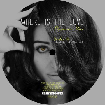 """dark front cover side a of reno ka's 12"""" vinyl record where is the love main and dub version"""