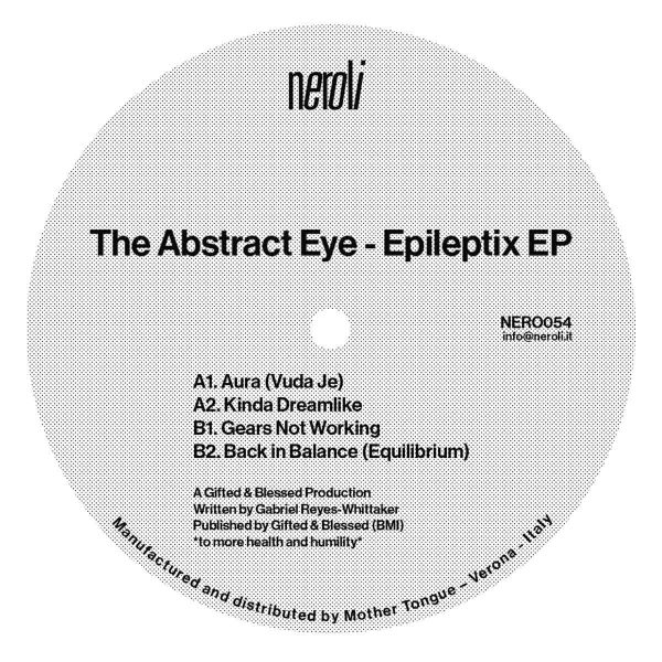 back cover of epileptix ep vinyl record by the abstract eye and tracklist of the album