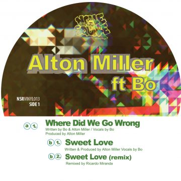 """alton miller's 12"""" vinyl record front cover of where did we go wrong and sweet love"""