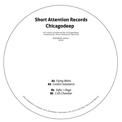 """chicagodeep 12"""" vinyl flying waltz ep from short attention records. house and electronic music"""