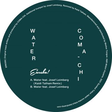 side b back cover with tracklist of water vinyl by coma-chi feat. josef leimberg