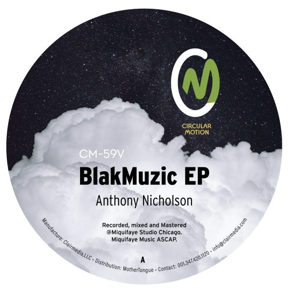 side a front cover of anthony nicholson's blakmuzic ep vinyl record