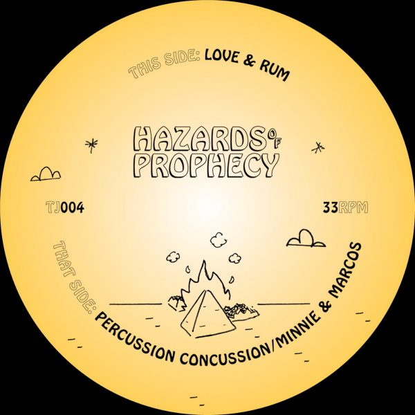 minnie & marcos hazards of prophecy vinyl record, tracks: percussion concussion