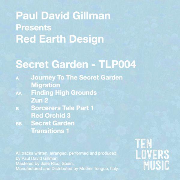 Paul David Gillman Presents Red Earth Design Secret Garden the secret edition
