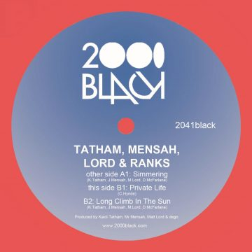 Kaidi Tatham, Mensah, Lord and Ranks in Simmering vinyl record from 2000black music
