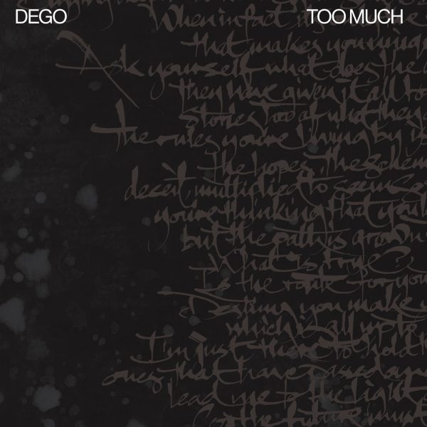 """dego too much lp 12"""" vinyl black front cover broken beat, house and electronic music"""