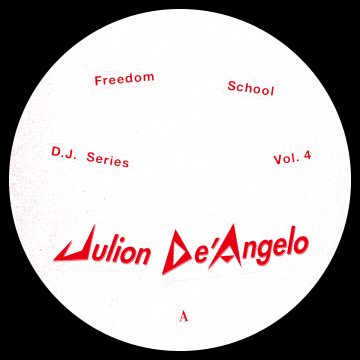 julion de'angelo dj series vol.4 white and red vinyl record